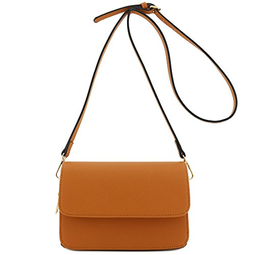 Crossbody Triple Compartment Clutch Tan Bag 7c6CYq