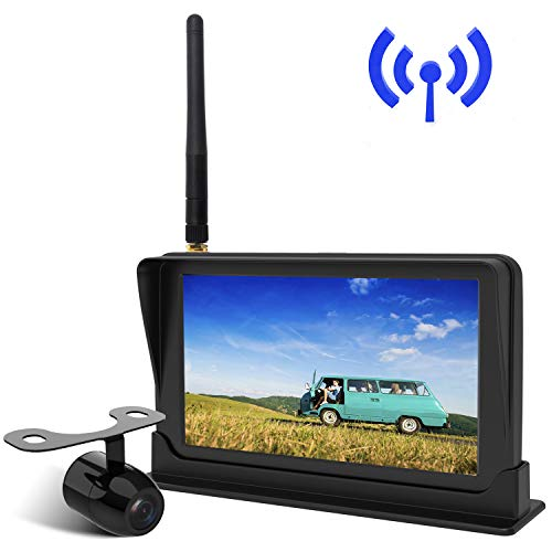 "Peizeen Wireless Backup Camera with 4.3"" LCD Screen HD Rear View Camera Kit Waterproof Reverse Cam Parking Lines for Trucks, Cars, Minivans, SUV, Bus(MN01)"