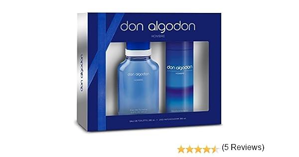 Don Algodón Men Edt 200 ml Sets + Deo 200 ml, Total 400 ml: Amazon ...