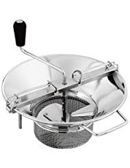Tellier X5 14 Diameter Stainless Steel Rotary Food Mill 8 Qt Capacity 4mm