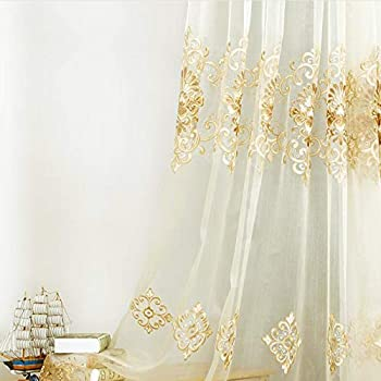Amazon Com European Style Sheer Curtain For Bedroom