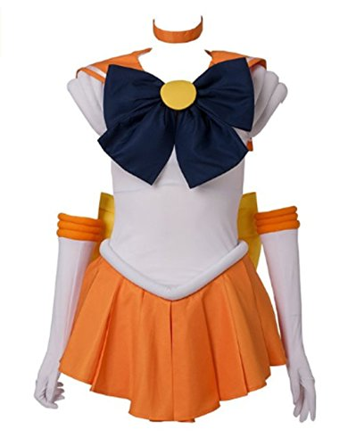 Sailor Moon Costumes For Adults (Another Me Sailor Moon Minako Aino Venus Cosplay Costume Female size Large(C07D89-L))