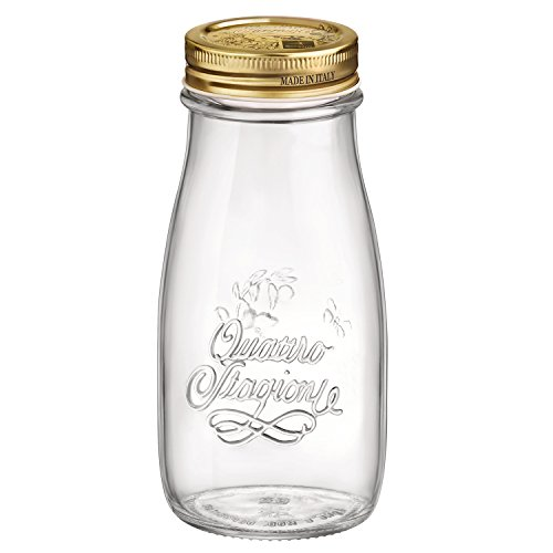 ro Stagioni Glass Bottle - Food Storage and Glass Canning Jar - 13.5 oz Set of 12 (13.5 Ounce Glass)