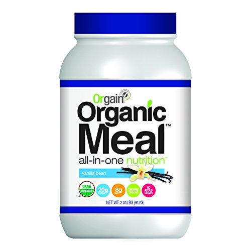 Orgain Organic Plant Based Meal Powder, Vanilla Bean, 2.01 Pounds 851770003377