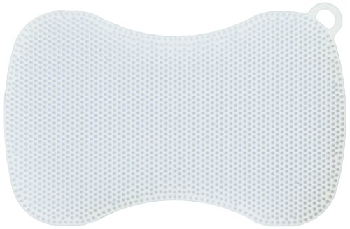 Kuhn Rikon Stay Clean Silicone Scrubber, Ice Blue (Ice Blue Upholstery)