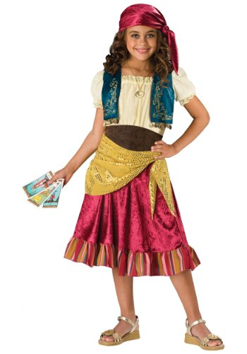 [InCharacter Costumes  Girls Gypsy Dress Costume, Multi Color, Large] (Gypsy Costume Head Scarf)