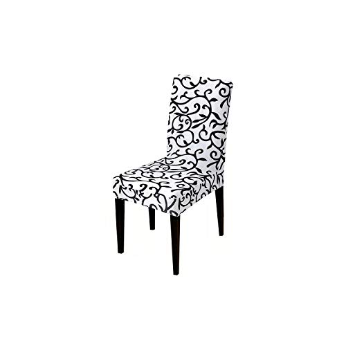 Printed Chair Cover Elastic seat Chair Covers Removable and Washable Stretch Banquet Hotel Dining Room arm Office Chair Cover,k044,Chair Cover ()