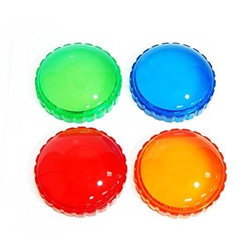 (CowboyStudio Photography Photo Studio 4 Color Gel Filter for 40W 45W Strobe Flash Light, Red, Orange, Green, Blue)
