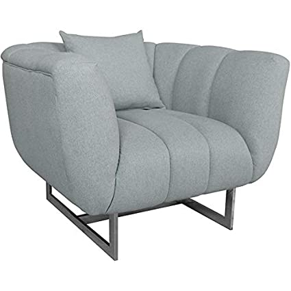 Moeu0027s Butler Tufted Oversized Accent Chair In Gray And Silver