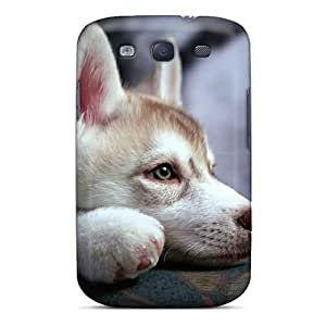 Awesome Meng Pet Husky Flip Case With Fashion Design For Galaxy S3