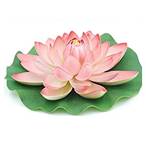 2 Pack- Artificial Floating Foam Lotus Flower Pond Decor Water 53