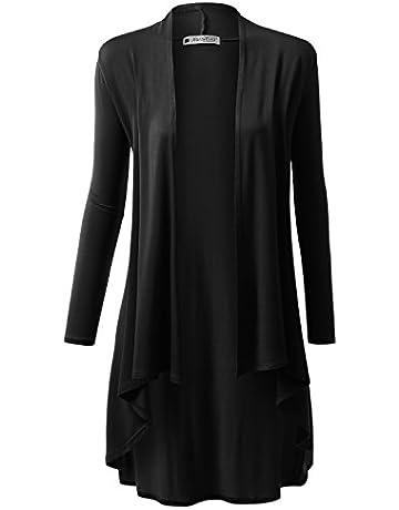 e19231ee7f URBANCLEO Womens Hi-Lo Draped Open Front Long Cardigan Sweater (S-3X)