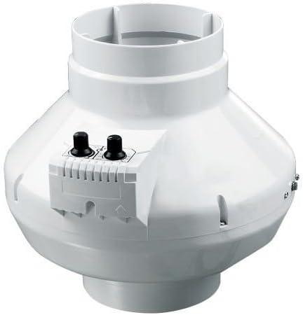 Tubo Ventilador DALAP turbina P 250 T con de temperatura y regulador de velocidad: Amazon.es: Bricolaje y herramientas