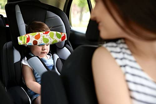 MV Essentials Baby Head Support Adjustable Strap Band for Car Seat Toddler Seats