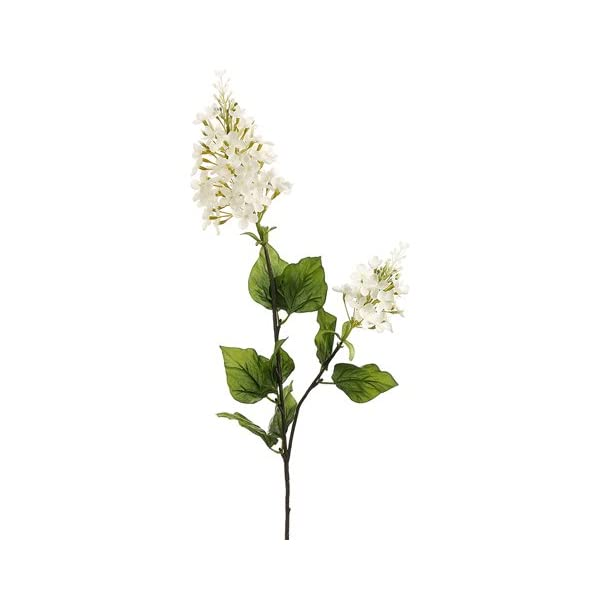 CC Home Furnishings Club Pack of 12 Artificial Cream Lilac Silk Flower Sprays 29″