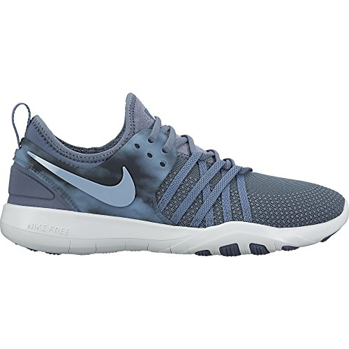 Nike Womens Free Tr 7 Low Top Lace Up Running Sneaker, Blue, Size 7.5