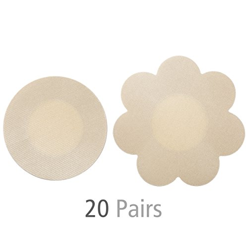 Tripetals Ultra Thin Premium Satin Invisible Breast Petals Disposible Adhesive Nipple Covers for Women - 20 Pairs