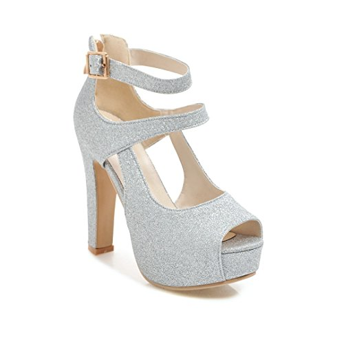 Summer coarse fish with ultra-high-like mouth and versatile stylish sandals Silver