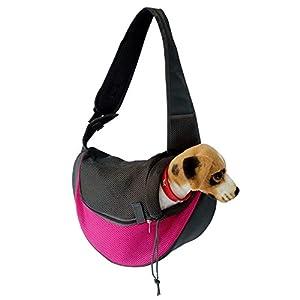YUDODO Pet Dog Sling Carrier Breathable Mesh Travel Safe Sling Bag Carrier for Dogs Cats 22