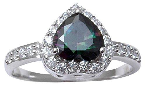 Banithani 925 Sterling Silver Mystic Topaz Stone Finger Ring Charm Women...