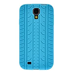 """""""JOE Tyre Silicone Phone Case and 3 Screen Protector for Samsung Galaxy S4 I9500 , Red"""""""