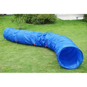 Triple A Dogs Dog Agility Training Tunnel 24'' x 15' Lightweight with Hold Down Stakes and carring case.Kids Tunnel