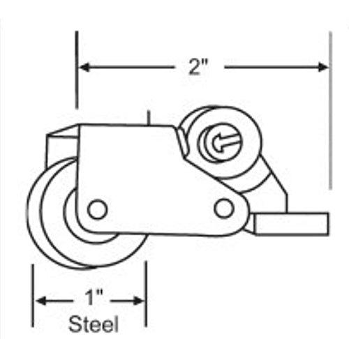 Hurd/Marvin Adjustable screen door roller Set