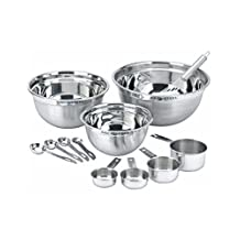 MASTER CHEF Mix and Measure Stainless Steel measuring cups and measuring spoons Set best seller 12 Pcs Included 3 Mixing Bowls 1 Whisk 4 Measuring Cups 4 Measuring Spoons Durable 14 / 4 Stainless Steel Ideal for Cooking Baking and Meal Prep
