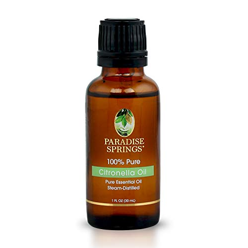 Paradise Springs 100% Pure Essential Oil Wildcrafted Citronella Oil 30mL 1 oz