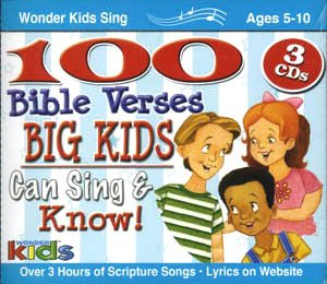 100 Bible Verses Big Kids Can Sing & Know! 3 CD Collection by