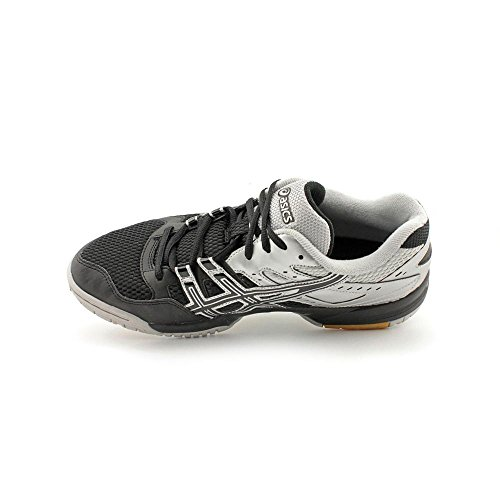 ASICS Men's GEL-Rocket 6 Volleyball Shoe,Black/Silver,12 M US