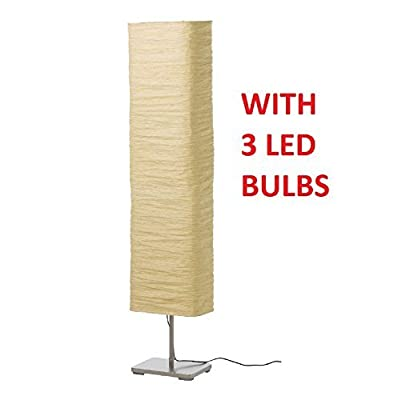 Ikea 302.322.30 Magnarp Floor Lamp and 3 LIGHT BULBS E12 3.5W 200 Lumen