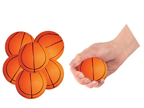 Mini Vinyl Basketball - Play Kreative Basketball Stress Balls - 12 Mini 2.5