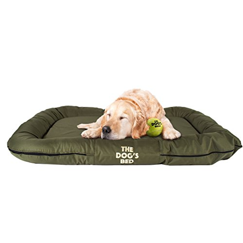 Embroidered Dog Beds - The Dog's Bed, Premium Water Resistant Dog Puppy Beds, Many Colors, Sizes & Luxury Embroidered Designs, Durable Oxford Fabric, Washable Cover, Boarding Kennel Favorite: