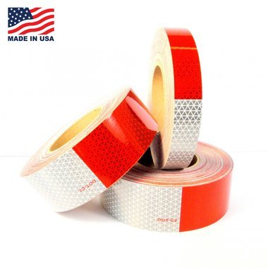 DOT-C2 ORALITE (Reflexite) Reflective Conspicuity Tape (V92308) (1.5'' (38mm), Solid - 11'' Red x 7'' White, 10 Years, Single Roll)