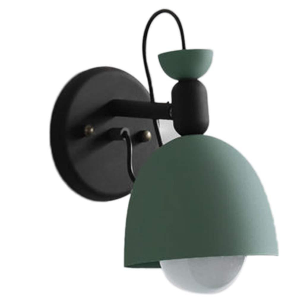 Wandleuchte Wandlampe Schlafzimmer-Nachttischlampe Makaron-Bonbons Wandlampe Gang-Treppenlicht Schmiedeeisenlampen Geschenke (Farbe   Grün, Größe   22.5  16.5  15cm)