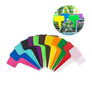 shuxuanltd Etichette Impianto di Plastica Ecologico Etichette Vegetali per Piante da Esterno Etichette Vegetali per Semi… 10 spesavip