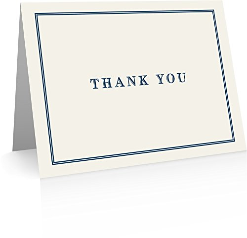 Classic Thank You (24 Fold-over Cards and Blank Envelopes) Classic Stationery - Fold Over Stationery