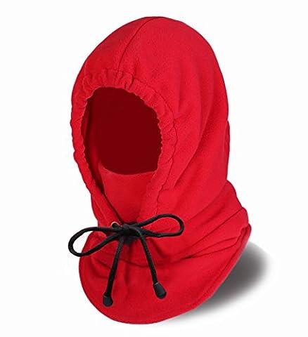 Oldelf Tactical Heavyweight Balaclava Outdoor Sports Mask (Red) - Winter Balaclava