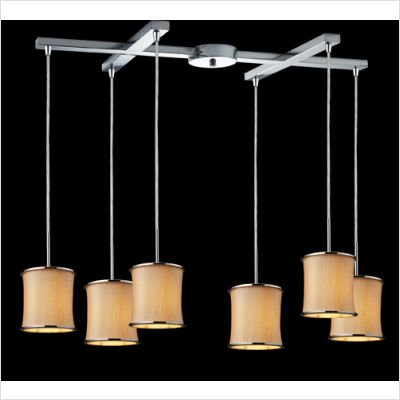 - Elk Lighting 20019/3 3 Light Pendant Ceiling Fixture from the Fabrique Collectio, Polished Chrome