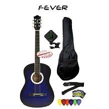 Fever 3/4 Size Acoustic Guitar Package Blue FV-030-BL-PACK