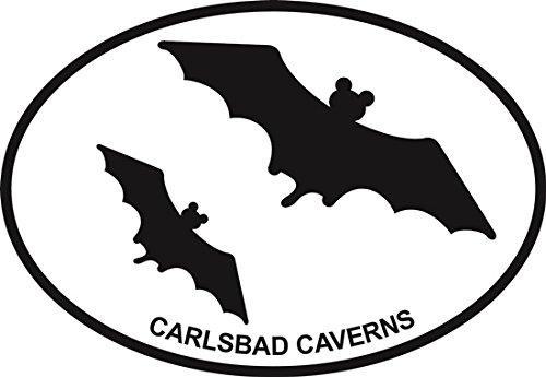 Carlsbad Caverns (bats) Euro Oval Bumper Sticker