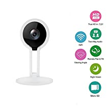 Wireless Security Camera, DOHAOOE C4 HD WiFi Security Surveillance IP Camera Home Monitor with Motion Detection Two-Way Audio Night Vision
