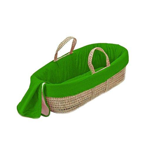 bkb Solid Color Moses Basket, Apple Green