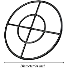 """Stanbroil 24"""" Round Fire Pit Burner Ring, Double Ring, Black Steel"""