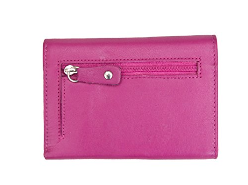 Prime Tri Fuchsia Purse Soft Ladies Hide Leather fold from BHZaq