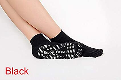 Amazon.com: New Brand Enjoy Yoga Skidproof 5 Toe Socks ...