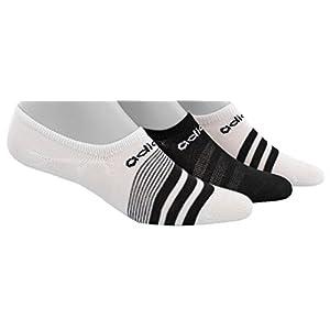adidas Women's Superlite Super No Show Socks (3 Pack), White/Black, Shoe Size 5-10