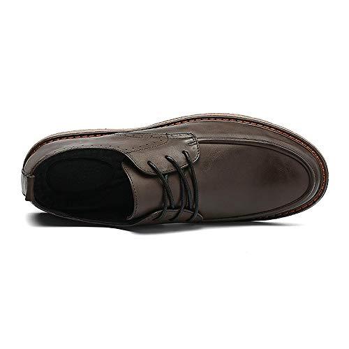 Jiuyue nuove in scarpe Scarpe e 2018 moda La contratto di 44 a casa Nero Dimensione Pelle uomo camminare stile per vivere formali Cachi EU britannico shoes compagnia Color vintage Uomo Seiko r0BwxUnr
