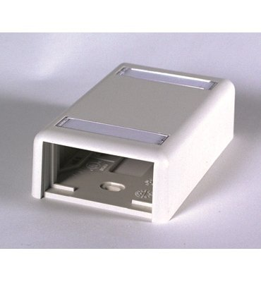 (OR-404S21X1U - Ortronics Plastic Surface Mount Box for 2 Series II Modules)